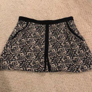 Zara mini skirt with side pockets & velvet details